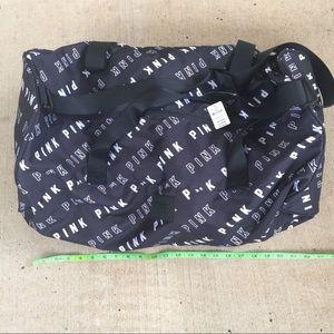 NEW Victoria's Secret PINK Canvas Duffle Bag Black